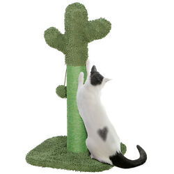 Cat Scratching Post Cactus Cat Scratcher with Scratching Poles Dangling Ball $23.99