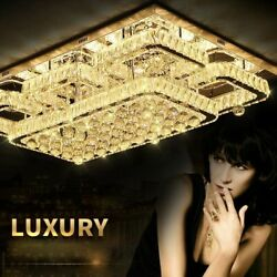 Ceiling Crystal Chandelier Lights Exquisite Surface Mounted Household Luxury New $1212.59