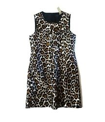 J Crew Holiday Dresses Leopard Print Shift Dress Size 8 Nwt $50.00