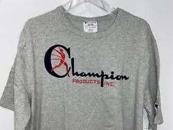 NEW CHAMPION size XL Running Man Gray amp; Red Logo mens t shirt $6.90