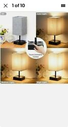 Touch Control Table Lamp Dimmable Bedside Desk Lamps With 2 Usb Charging 26 Led $42.50