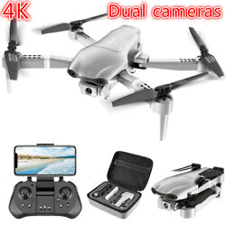 GPS Drone With 4K HD Dual Camera WIFI FPV RC Quadcopter Foldable Drone2 Battery $116.91
