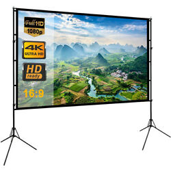 120quot; Portable Foldable Projector Screen 16:9 Outdoor Home Cinema Theater Movie $18.99