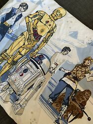 Pottery Barn Kids Star Wars Twin Sheet Set Flat amp; Fitted Bedding Sheets R2D2 $29.99