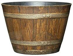 Classic Home and Garden 74 Whiskey Barrel 9quot; Distressed Oak $25.39