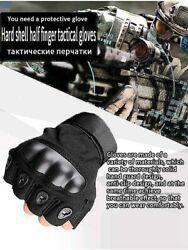 Military Tactical Fingerless Motorcycle Half Finger Gloves Hunting Shooting Mens $8.17