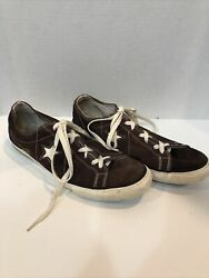 Converse One Star Size 10 Mens Classic OX SUEDE Chocolate $20.00