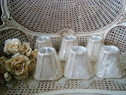 SET OF 6 MINI LAMP SHADES FOR CHANDELIERS OR SMALL LAMPS ***BEAUTIFUL**** $99.99