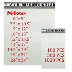 6x9 7.5x10.5 9x12 10x13 14x17 Poly Mailers Shipping Envelopes Self Sealing Bags $10.90
