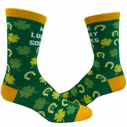 Me Lucky Socks Socks Funny Shamrock St Patricks Day Parade Irish Graphic Novelty $9.99
