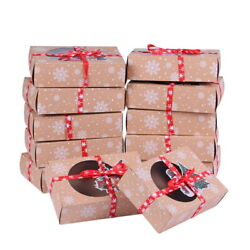 12 Christmas Candy Cookie Cupcake Muffin Cake Bakery Gift Boxes $14.99