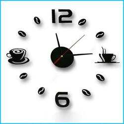 3D quartz wall clock designed in a coffee style suitable for the living room $7.99