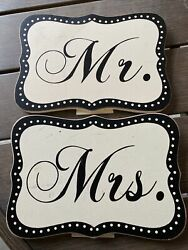Mr amp; Mrs. Wooden Wedding Signs $7.00