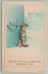 Charles Twelvetrees Lil Boy Leans Against Brick Wall Town Blue Without You Puppy $9.00
