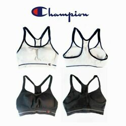 Champion Sports Bra Women#x27;s New Small Seamless Racerback Black White $12.90