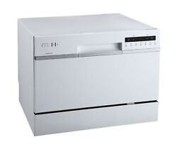 EdgeStar DWP62 22quot;W 6 Place Setting Energy Star Rated Countertop White $269.00