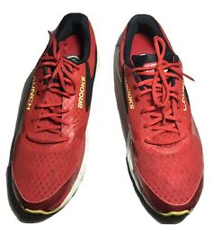 BROOKS Launch 3 Mens 15 Athletic Running Lace Up Shoes DeepRed 1102151D683 FLAW $45.00
