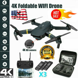 DRONE X Pro Selfie WIFI FPV With 4K HD Camera Foldable RC Quadcopter 3 Battery $59.49