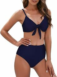 American Trends High Waisted Bikinis for Teens Girls Tied Knot Swimsuit Two Piec $44.22