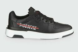 GIVENCHY Wing Black amp; White Low Leather Sneakers $795 $310.05