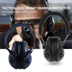 Protector Electronic Hearing Noise Canceling Ear Muffs Shooting Tactical Headse $26.31
