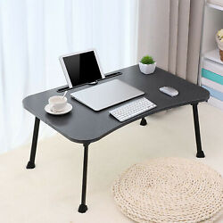 Floor Portable Laptop Desk for Bed Foldable Lap Desk Laptop Bed Tray Table $25.06