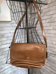 Coach Vintage Brown Leather Crossbody $29.99
