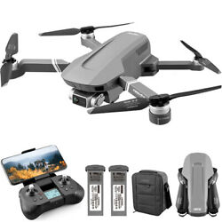 4K GPS RC Drones with HD Camera Foldable Quadcopters Batterybag Brushless Motor $195.13