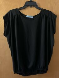 Black Boutique Shirt Small With Back Slit $10.00