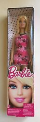 Barbie Basic Barbie Doll w Pink Black White dress Shoes and a Necklace 2012