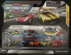 Micro Machines 5 pack Super Cars with ULTRA RARE GOLD CHASE CAR. $29.99