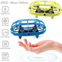 2PCS UDIRC Flying Ball Drone for Kids Hand Operated Mini Drone Toy with Fan Mode $34.98