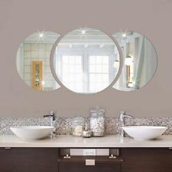Mirror Wall Stickers Large Photo Picture Frame Removable Round Art Decal CF $7.07