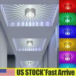 3W RGB Dimmable LED Ceiling Light 16Colors Changing Recessed Aluminum Down light