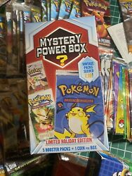 Mystery Power Box 2018 Holiday Edition 1:10 Vintage Pokemon Pack Chance $250.00