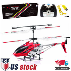 Syma S107G 3 Channel Flashing LED Mini Remote Control RC Helicopter Gyro Gifts $19.98