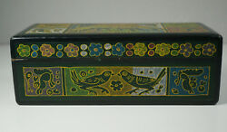 Vintage Box Painted Lacquered Balsa India? Hand Painted $19.99