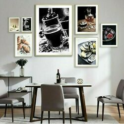 Wine Coffee Bread Kitchen Canvas Poster Wall Art Picture Prints Decor Unframed $24.71