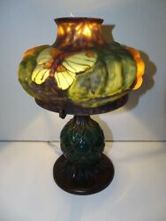 PAIRPOINT PUFFY STYLE CONTEMPORARY LAMP FAMOUS BUTTERFLY SHADE STUNNING $349.99