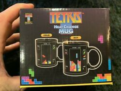 NERD ARCADE BLOCK TETRIS HEAT CHANGE COFFEE MUG BLACK NEW IN THE BOX $7.79