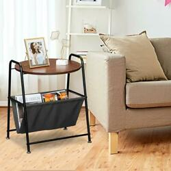 Coffee Tray Side Sofa Table Room Console Stand End TV Lap Snack w Magazine Rack $35.98