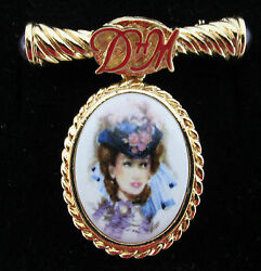 VINTAGE AVON **D.H. McConnell FEMALE PIN 1996 97**NEW**VERY RARE**GOLD TONE $49.00