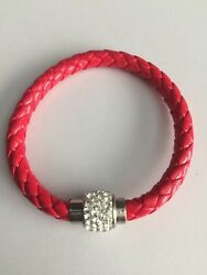 New Red Magnetic Crystals Fashion Bracelet Jewelry Birthday Wedding Gift N $6.99