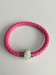 New Pink Magnetic Crystals Fashion Bracelet Jewelry Wedding Birthday Gift N $5.99
