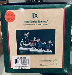Dept 56 12 Days Of Dickens Village 9 Ladies Dancing 58385 $29.95