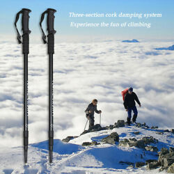 2 Pack Ultralight Carbon Fiber Telescopic Sticks Climbing Trekking Hiking Poles $22.49