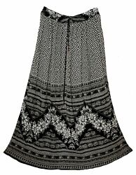 Indian Rayon Skirt Crinkle 8 Size Long Dress Ladies Women Waist Ethnic Boho For $19.99