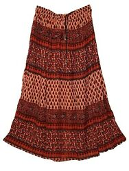 Indian Rayon Crinkle Skirt 8 Size Long Waist Ladies Dress Women Ethnic Boho For $19.99