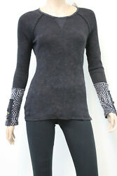 American Able Black Long Sleeve Thermal Top 112511 Able USA