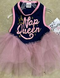 SIMPLY WAG Navy amp; Pink quot;NAP QUEENquot; DRESS Puppy Dog SMALL NWT $16.50